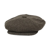 [뉴욕햇]NEWYORK HAT - WOOL BIG APPLE HERRINGBONE BROWN 울 헤링본 헌팅캡