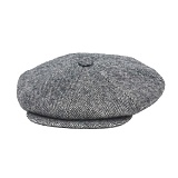 [뉴욕햇]NEWYORK HAT - WOOL BIG APPLE HERRINGBONE GREY 울 헤링본 헌팅캡