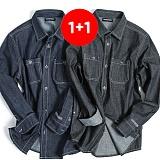 ★1+1상품★밴웍스 밴웍스 데님 워크 셔츠 2칼라 (V15SH002) 남방