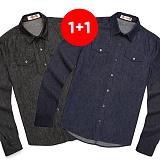 ★1+1상품★밴웍스 데님셔츠 BLACK/BLUE 남방