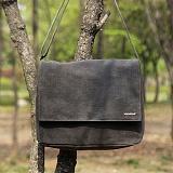[모노노] MONONO - Wax Canvas Mail Bag - Charcoal 크로스 왁스캔버스 크로스백 가방
