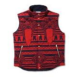 [크룩스앤캐슬]CROOKS & CASTLES Knit Vest - Pariah (True Navy/True Red) 크룩스앤캐슬 니트 베스트 조끼