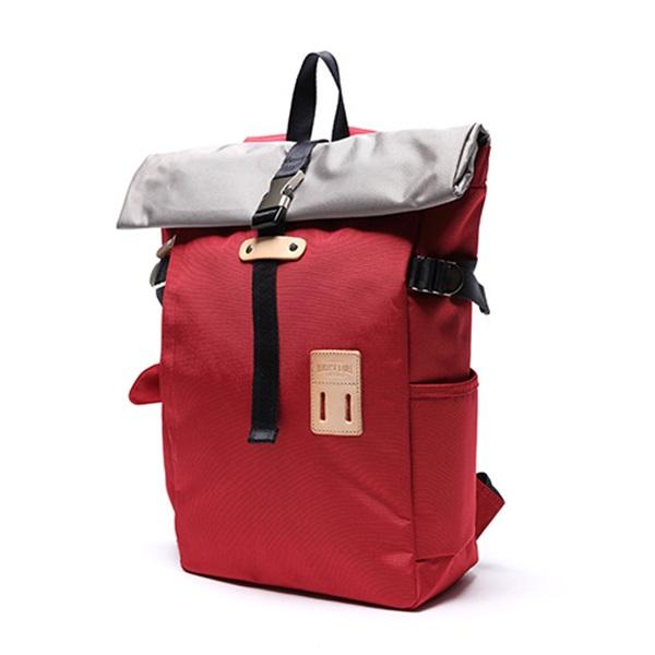 [하베스트라벨]HARVEST LABEL - ROLLTOP BACKPACK PACK HFC-9004 (Red) 롤탑 백팩 ★국내당일발송