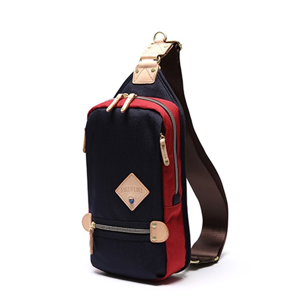 [하베스트라벨]HARVEST LABEL - TWO-TONE SLING PACK HFC-9006 (Navy) 투톤 슬링백