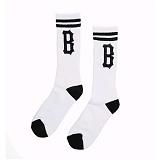 [블랙스케일]BLACK SCALE B Logo Socks (White) 삭스 양말