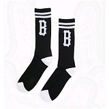 [블랙스케일]BLACK SCALE B Logo Socks (Black) 삭스 양말