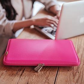[바투카]VATUKA - 3D큐브 맥북프로 레티나 노트북 파우치 13.3인치 (Hot Pink)