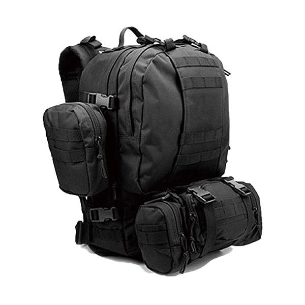 웍스페디션 포터 45리터 전술 백팩 블랙 밀리터리 가방 캠핑 여행