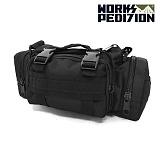웍스페디션 포레이커 웨이스트 전술 힙색 블랙 / 루어가방 낚시가방 배스가방