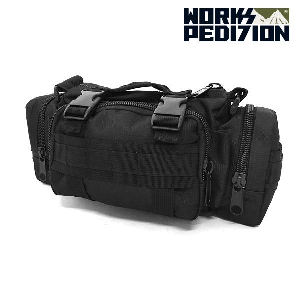 웍스페디션 포레이커 웨이스트 전술 힙색 블랙 / 루어가방 낚시가방 배스가방 밀리터리 가방 캠핑 여행