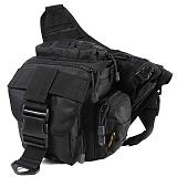 웍스페디션 게이터 전술 슬링백  블랙/루어가방 낚시가방 배스가방