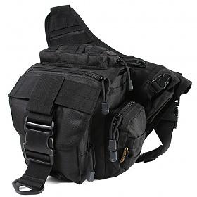 웍스페디션 게이터 전술 슬링백  블랙/루어가방 낚시가방 배스가방 밀리터리 가방 캠핑 여행