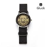 [Gluck] 글륵 행운의 수공예 시계 Steampunk-skull-K 본사정품