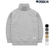[크루클린] CROOKLYN 목폴라 기모 맨투맨 티셔츠 MRL435 크루넥 스��셔츠폴라