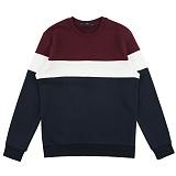 [위씨]WISSY - 배색절개 스웨트셔츠(버건디) 크루넥 스��셔츠 맨투맨