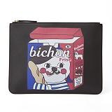 [비욘드클로젯x매니퀸] 클러치백 - CHUCHU DOG LEATHER CLUTCH BLACK 클러치 손가방 가방