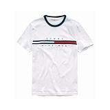 [TOMMY HILFIGER]타미힐피거  맨즈 플래그 로고 반팔 티셔츠 화이트 남녀공용 정품 국내배송
