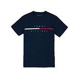[TOMMY HILFIGER]타미힐피거  맨즈 플래그 로고 반팔 티셔츠 네이비 남녀공용 정품 국내배송