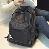 [에이비로드] ABROAD - Daily Backpack (black)_ 데일리백팩 학생백팩 가죽백팩 신학기백팩 레더 블랙 데이백 무지백팩