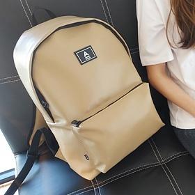 [에이비로드] ABROAD - Secret Backpack (beige)_ 시크릿백팩 학생백팩 가죽백팩 레더 베이지