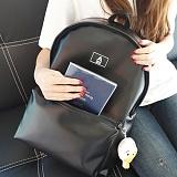 [에이비로드] ABROAD - Secret Backpack (black)_시크릿백팩 학생백팩 가죽백팩 신학기백팩 레더 블랙
