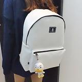 [에이비로드] ABROAD - Secret Backpack (white)_시크릿백팩 학생백팩 가죽백팩 신학기백팩 레더 화이트