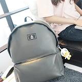 [에이비로드] ABROAD - Secret Backpack (gray)_ 시크릿백팩 학생백팩 가죽백팩 신학기백팩 레더 그레이