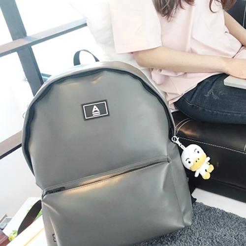 [에이비로드] ABROAD - Secret Backpack (gray)_ 시크릿백팩 학생백팩 가죽백팩 백팩 레더 그레이