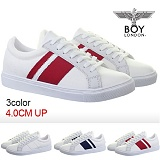 [보이런던]boylondon-1045 su-ril sneakers(흰/빨)-남자 캐주얼 키높이 스니커즈 스닐 키높이 신발 운동화 단화