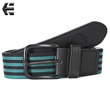 [Etnies] SLY STRIPED LEATHER WEB BELT (Green)