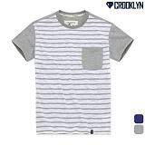 [크루클린] CROOKLYN 슬라브 스트라이프 반팔 티셔츠 TRS174 반팔티