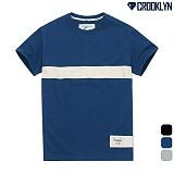 [크루클린] CROOKLYN 테이프 포인트 반팔 티셔츠 TRS169 반팔티
