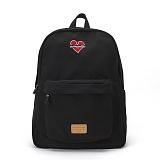 [비욘드클로젯X매니퀸] NOMANTIC HEART LOGO BACKPACK - BLACK 노맨틱 하트 로고 백팩 신학기가방 데이백