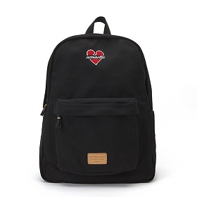 [비욘드클로젯X매니퀸] NOMANTIC HEART LOGO BACKPACK - BLACK 노맨틱 하트 로고 백팩 가방 데이백