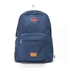 [비욘드클로젯X매니퀸] NOMANTIC HEART LOGO BACKPACK - DENIM 노맨틱 하트 로고 백팩 가방 데이백