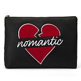 [비욘드클로젯X매니퀸] NOMANTIC HEART LOGO CLUTCH - BLACK 손가방 클러치 클러치백 가방