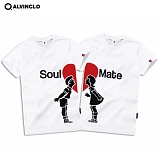 [앨빈클로]ALVINCLO  하트 커플 남녀 반팔티 AST-3415W 반팔 반팔티셔츠 티셔츠