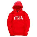 [제이티앤씨오]JT&CO USA PULLOVER HOODY (RED) 풀오버 후디 후드티셔츠