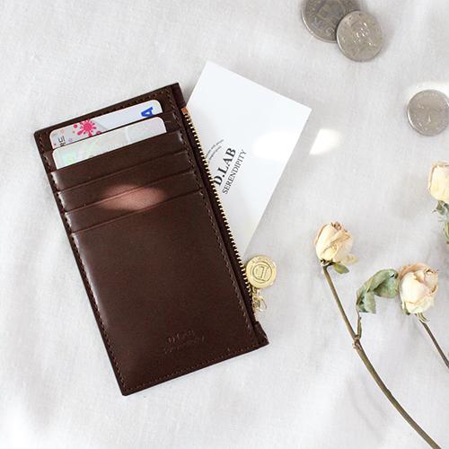 [디랩]D.LAB - Gato zipper wallet - Brown  지갑