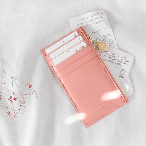 [디랩]D.LAB - Gato zipper wallet - Pink  지갑