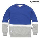 [앨빈클로]ALVINCLO MAR-796C 포인트 배색/남자여자 커플룩 학생 스웨트셔츠 맨투맨 크루넥 스��셔츠