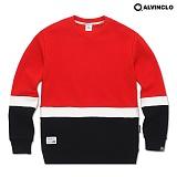 [앨빈클로]ALVINCLO MAR-796R 포인트 배색/남자여자 커플룩 학생 스웨트셔츠 맨투맨 크루넥 스��셔츠