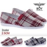 [보이런던]boylondon-1055 riwoo slip-on(red)-남자 캐주얼 리우 스니커즈 슬립온 신발 단화 운동화 캔버스화