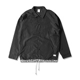 [크룩스앤캐슬]CROOKS & CASTLES Mens Woven Coachs Jacket - Maison (Black) 맨즈 우븐 코치 자켓