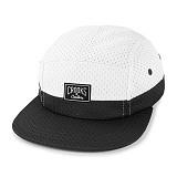 [크룩스앤캐슬]CROOKS & CASTLES Mens Woven 5-Panel Cap - Core Logo (White/Black) 맨즈 우븐 캠프캡