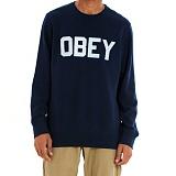 [오베이]OBEY - FORDAM CREW 111600079 (NAVY) 맨투맨