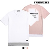 밴웍스 LAYERED BACK PRINT T-Shirts 3colors(V16TS214) 반팔티 티셔츠