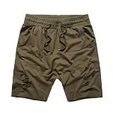 [플라잉나인티]FLYING NINETY - FNTY distresed drop crotch shorts KAKI 숏 팬츠 반바지
