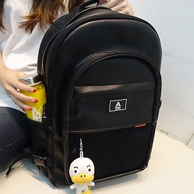 [예약발송 10월30일][에이비로드] ABROAD - Crazy Backpack (black)_ 크레이지 백팩 학생가방 가방 블랙