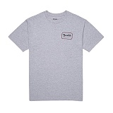 [브릭스톤]BRIXTON - GRADE S/S STND TEE 116-06251-0320 (HEATHER GREY/CARDINAL) 반팔티셔츠